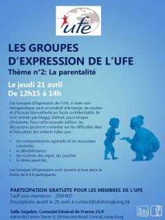Groupes d'expression Parentalité 21.04.16